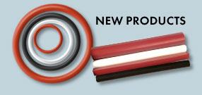 ROW INC. Non-Encapsulated Gaskets, FEP or PFA Straight Lengths in Silicone, Viton® or EPDM